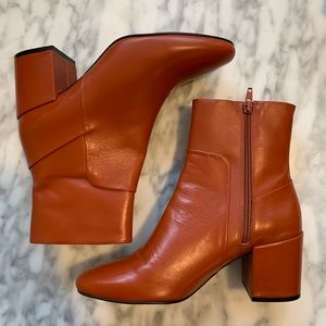 Steve Madden Burnt Orange/Tan Booties